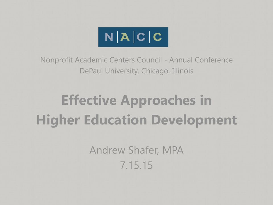 Chicago, Illinois Effective Approaches in