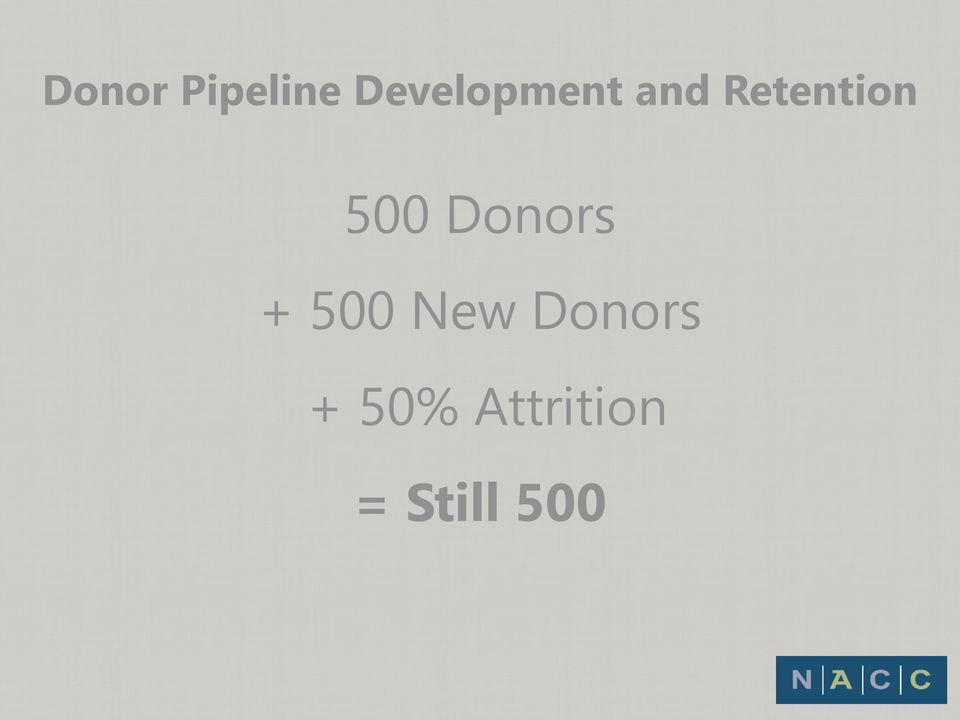 Retention 500 Donors +