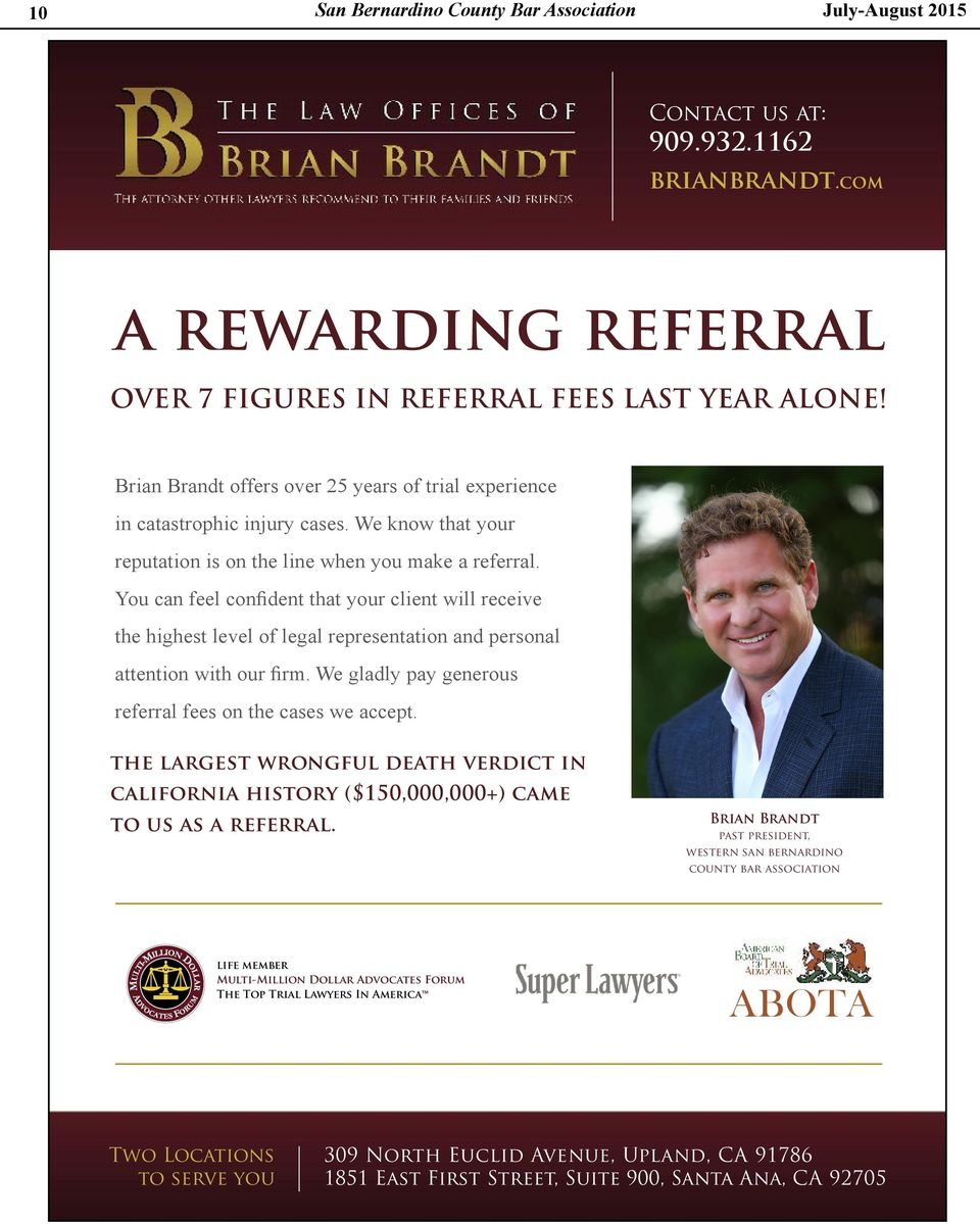 We know that your reputation is on the line when you make a referral.