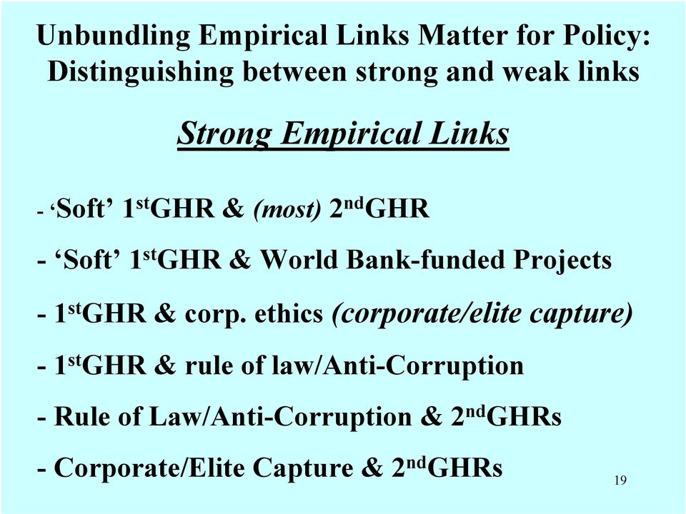 Bank-funded Projects - 1 st GHR & corp.