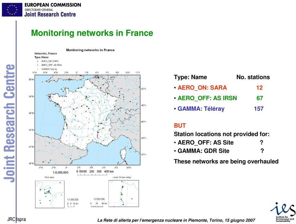Téléray 157 BUT Station locations not provided for: