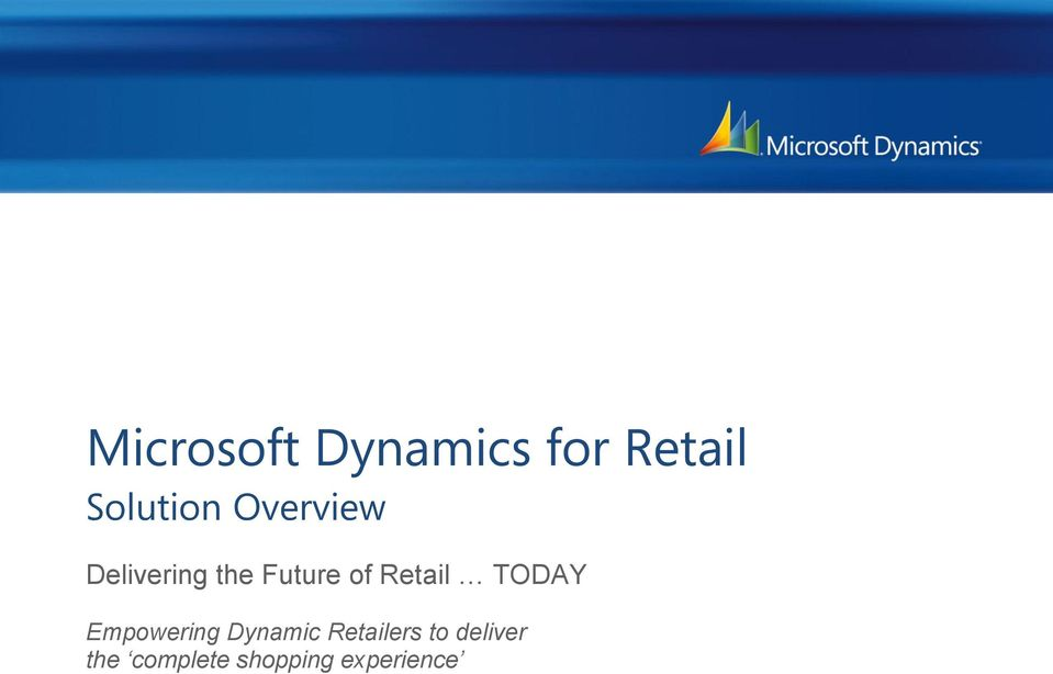 Retail TODAY Empowering Dynamic