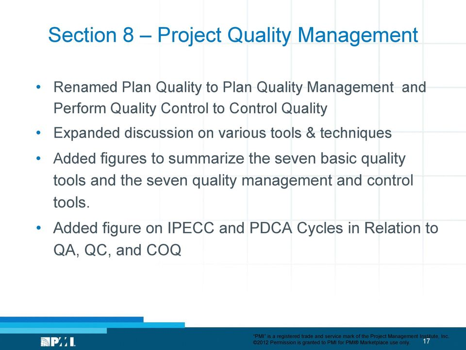 the seven basic quality tools and the seven quality management and control tools.