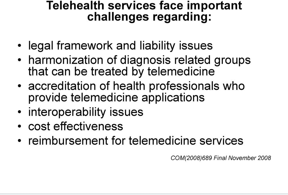 accreditation of health professionals who provide telemedicine applications