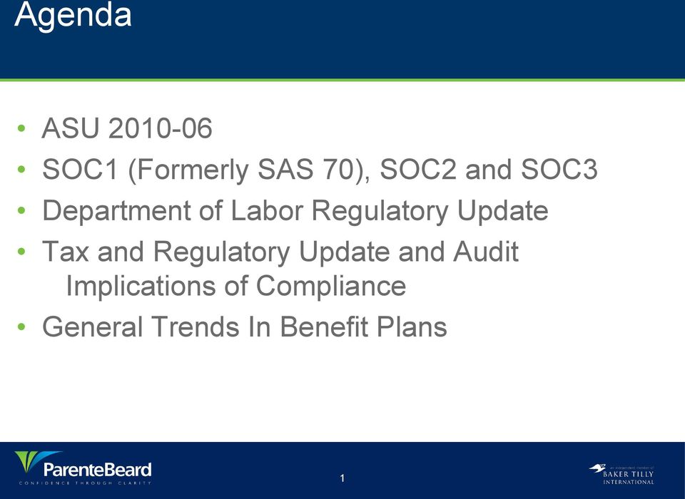 Tax and Regulatory Update and Audit