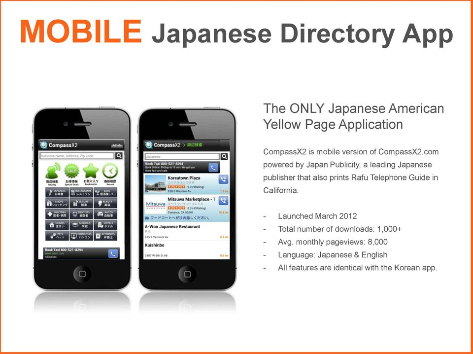 com powered by Japan Publicity, a leading Japanese publisher that also prints Rafu Telephone Guide in