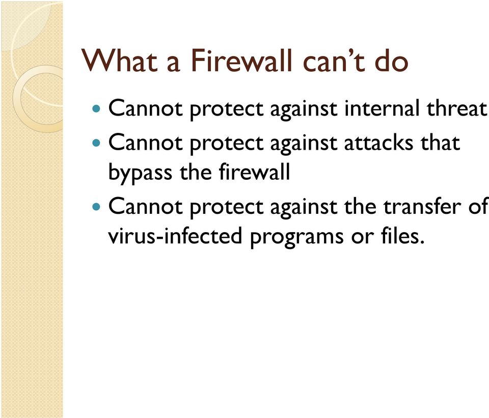 that bypass the firewall Cannot protect against