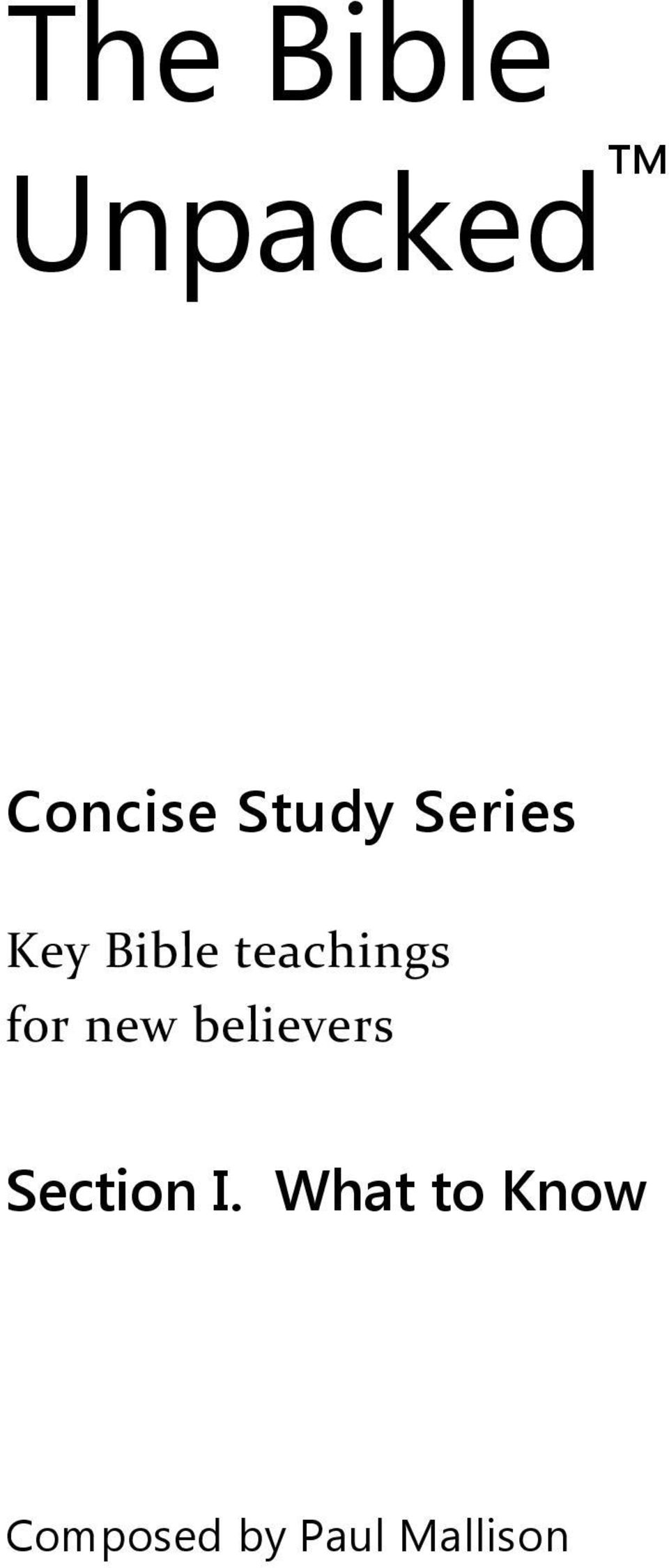 teachings for new believers