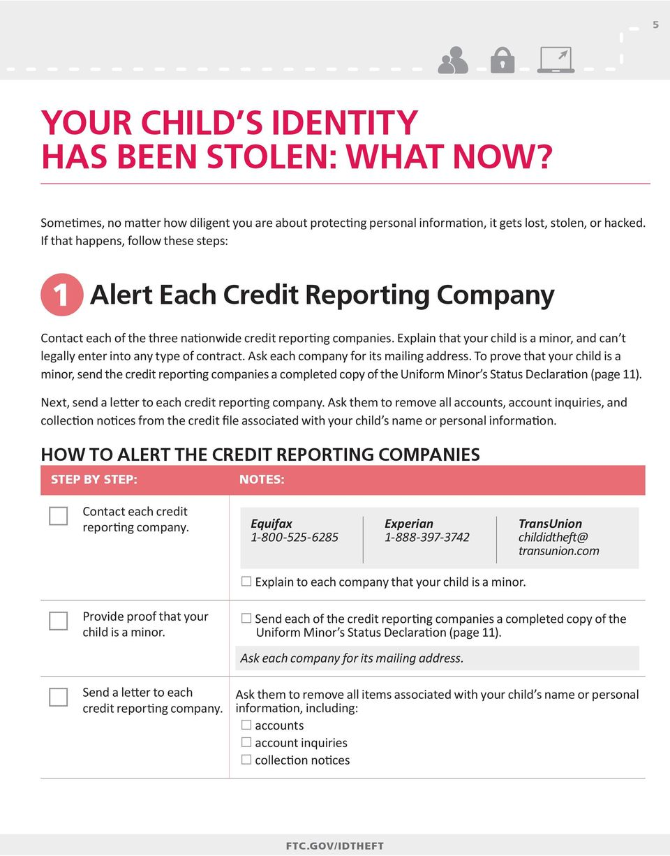 Explain that your child is a minor, and can t legally enter into any type of contract. Ask each company for its mailing address.