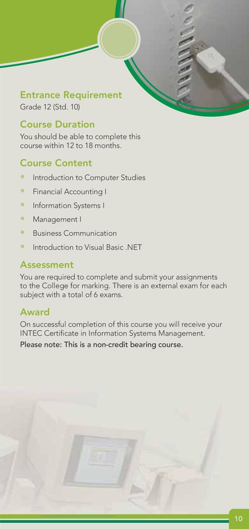 Basic.NET Assessment You are required to complete and submit your assignments to the College for marking.