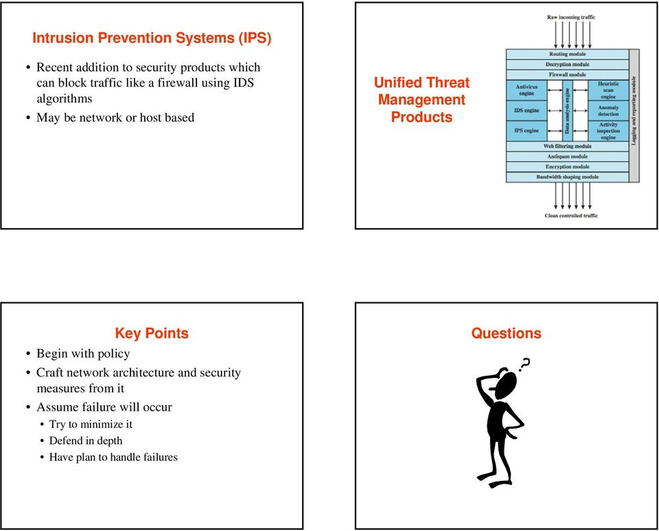 Products Key Points Begin with policy Craft network architecture and security measures from it