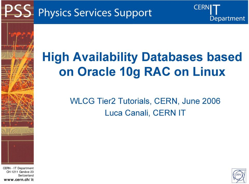 Linux WLCG Tier2 Tutorials,