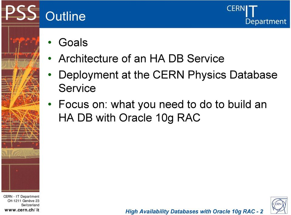 on: what you need to do to build an HA DB with Oracle