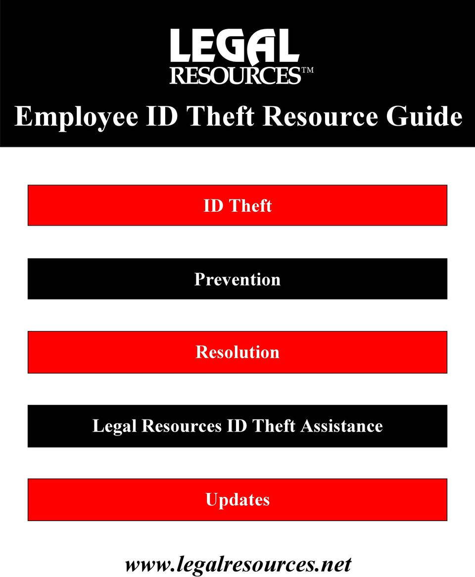 Legal Resources ID Theft