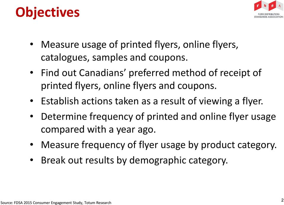 Establish actions taken as a result of viewing a flyer.