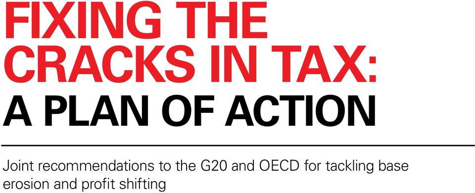 to the G20 and OECD for tackling