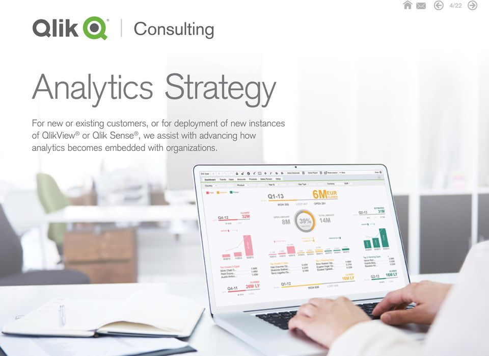 of QlikView or Qlik Sense, we assist with