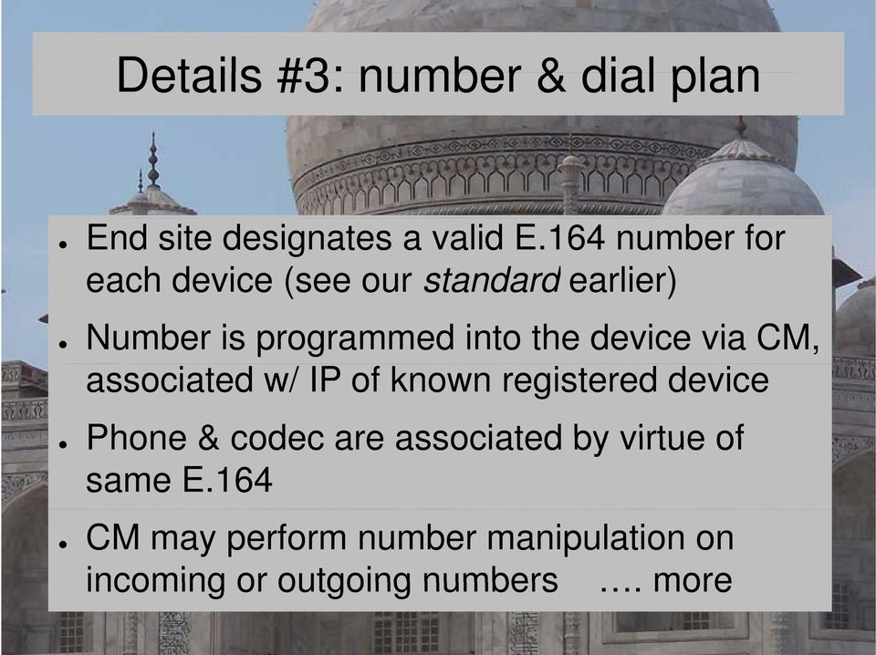 the device via CM, associated w/ IP of known registered device Phone & codec are