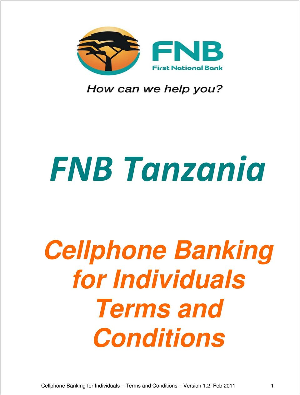 Cellphone Banking for  Version 1.