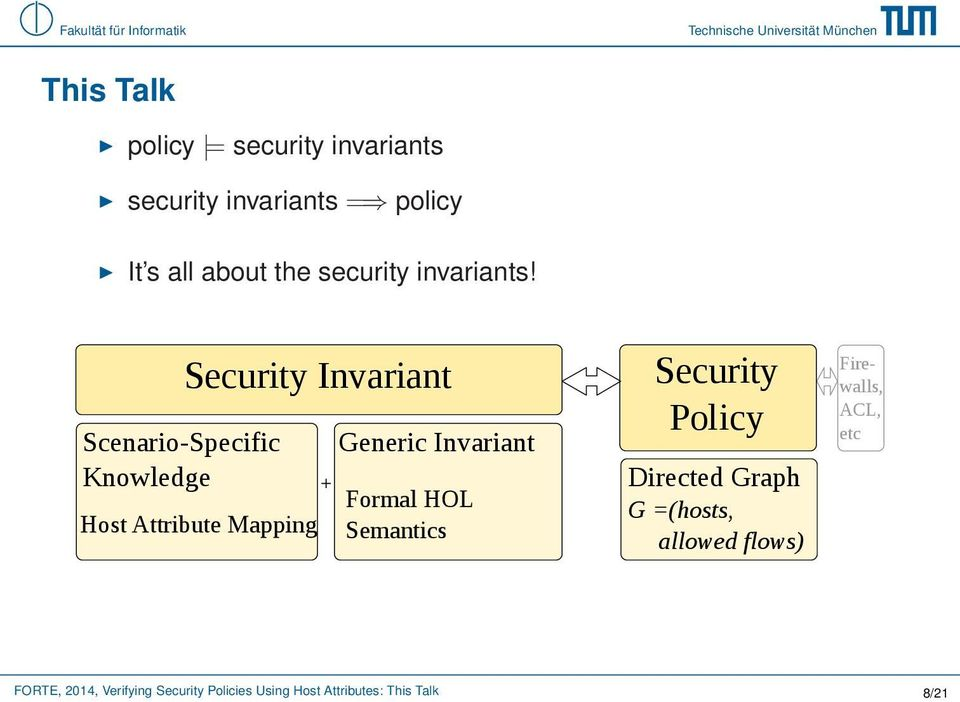 Scenario-Specific Knowledge Security Invariant Host Attribute Mapping + Generic Invariant
