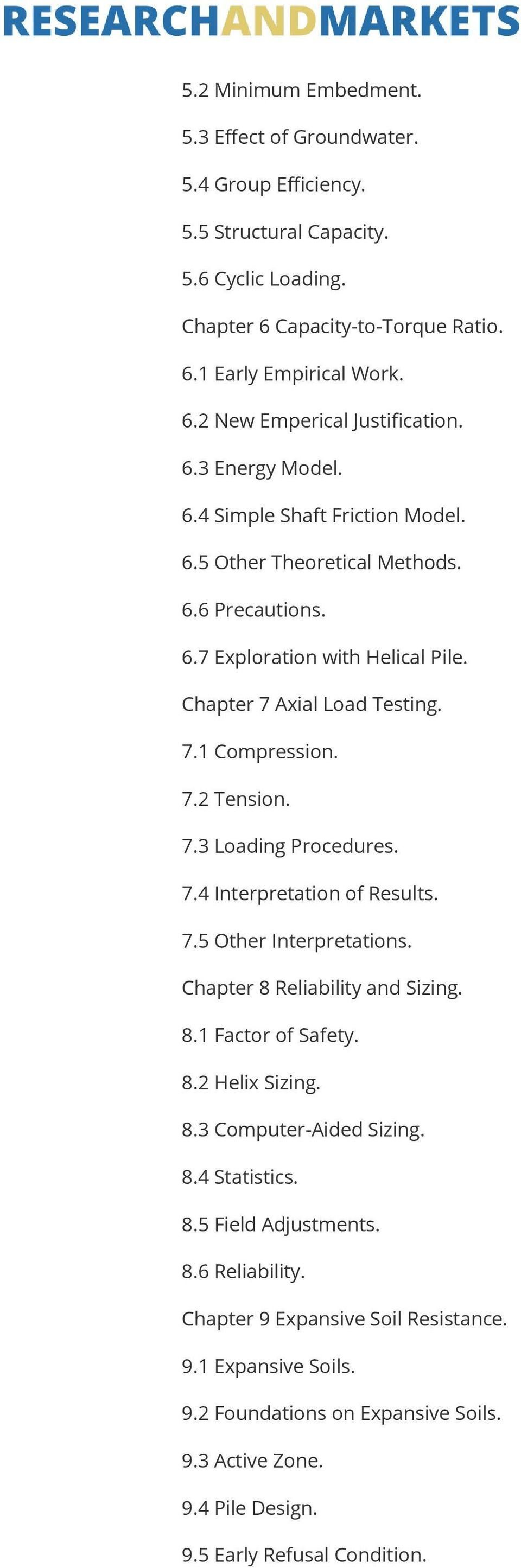 7.4 Interpretation of Results. 7.5 Other Interpretations. Chapter 8 Reliability and Sizing. 8.1 Factor of Safety. 8.2 Helix Sizing. 8.3 Computer-Aided Sizing. 8.4 Statistics. 8.5 Field Adjustments. 8.6 Reliability.
