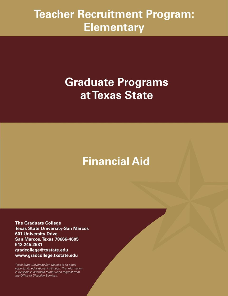 Master s Programs ECollege very of year, Applied Texas Arts State University-San Marcos Agricultural Education The Criminal Graduate helps Justice nearly College 17,000 of our students finance Family