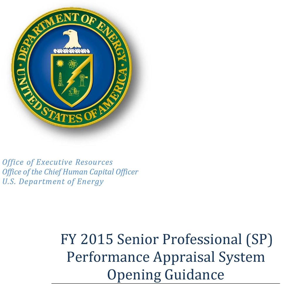 Department of Energy FY 2015 Senior