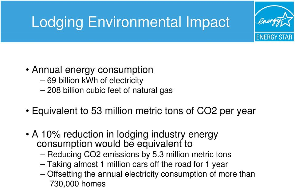 energy consumption would be equivalent to Reducing CO2 emissions by 5.