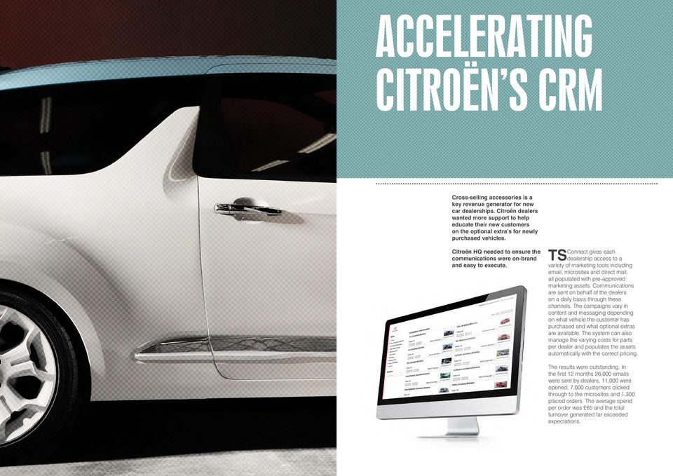 Citroën HQ needed to ensure the communications were on-brand and easy to execute.