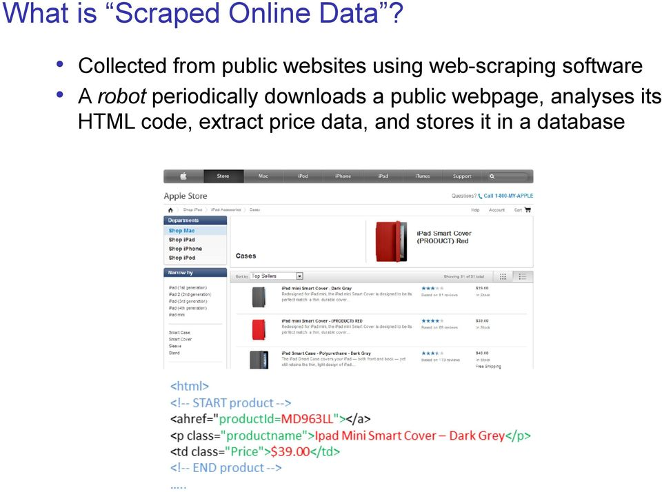 software A robot periodically downloads a public