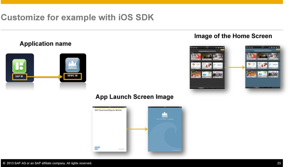 App Launch Screen Image 2013 SAP AG or an