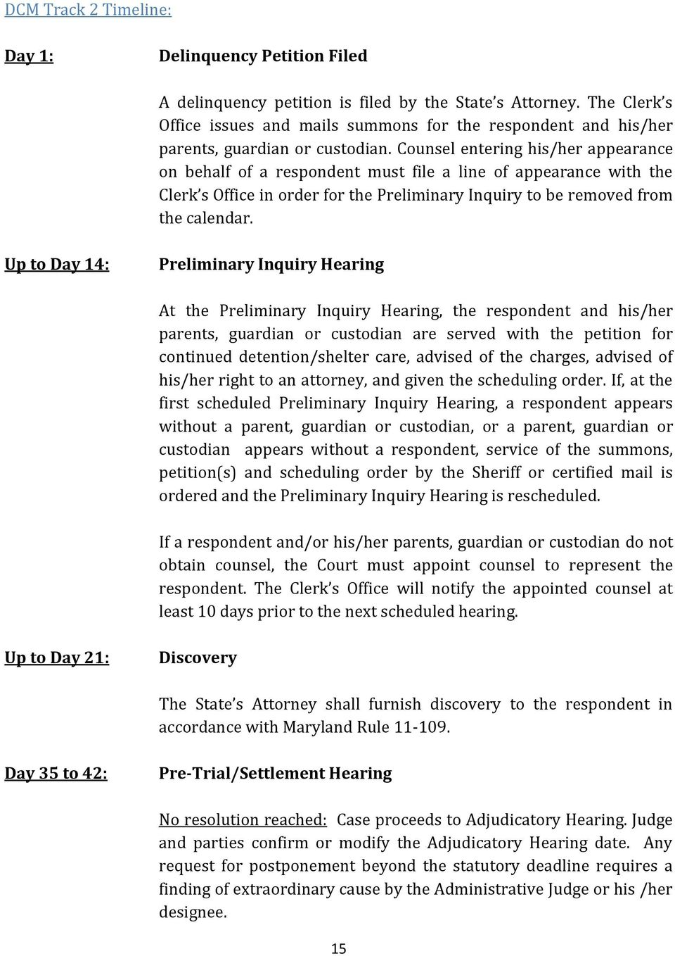Counsel entering his/her appearance on behalf of a respondent must file a line of appearance with the Clerk s Office in order for the Preliminary Inquiry to be removed from the calendar.