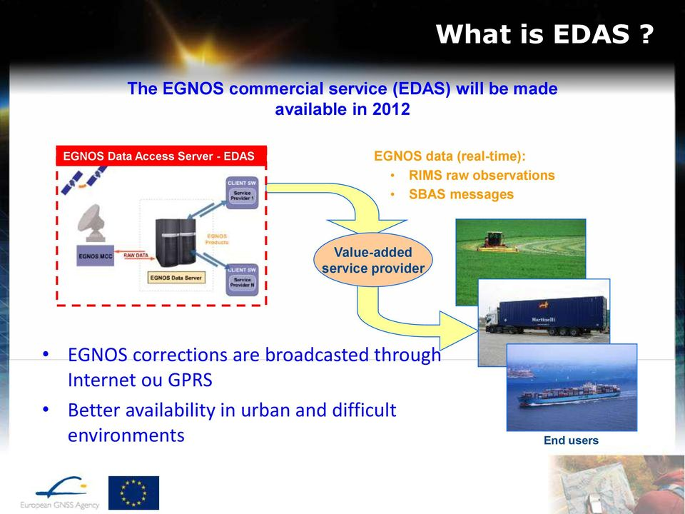 Access Server - EDAS EGNOS data (real-time): RIMS raw observations SBAS messages