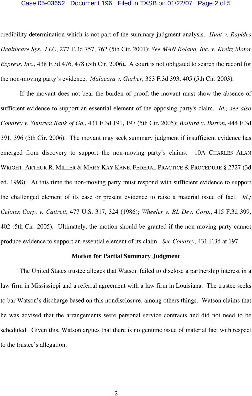 Malacara v. Garber, 353 F.3d 393, 405 (5th Cir. 2003).