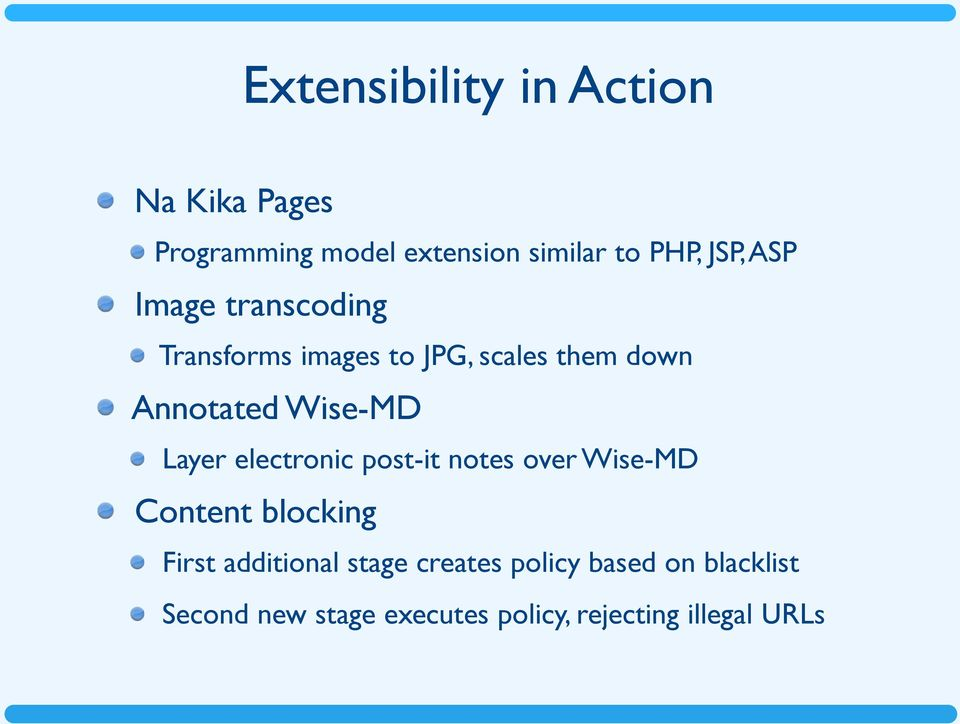 Wise-MD Layer electronic post-it notes over Wise-MD Content blocking First additional