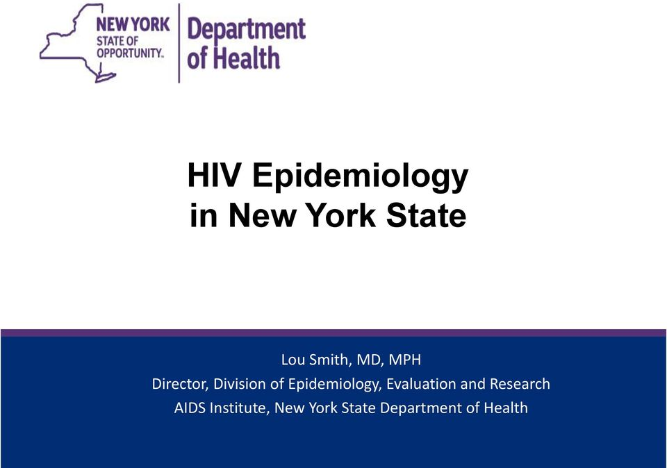 Epidemiology, Evaluation and Research
