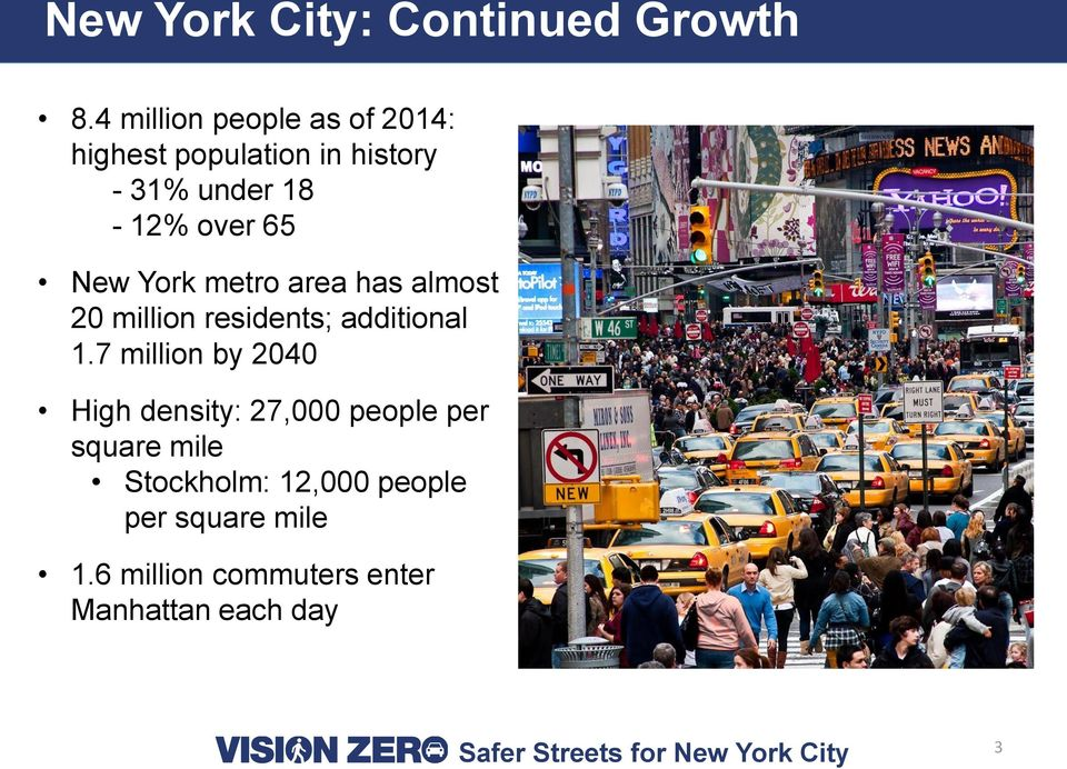 65 New York metro area has almost 20 million residents; additional 1.