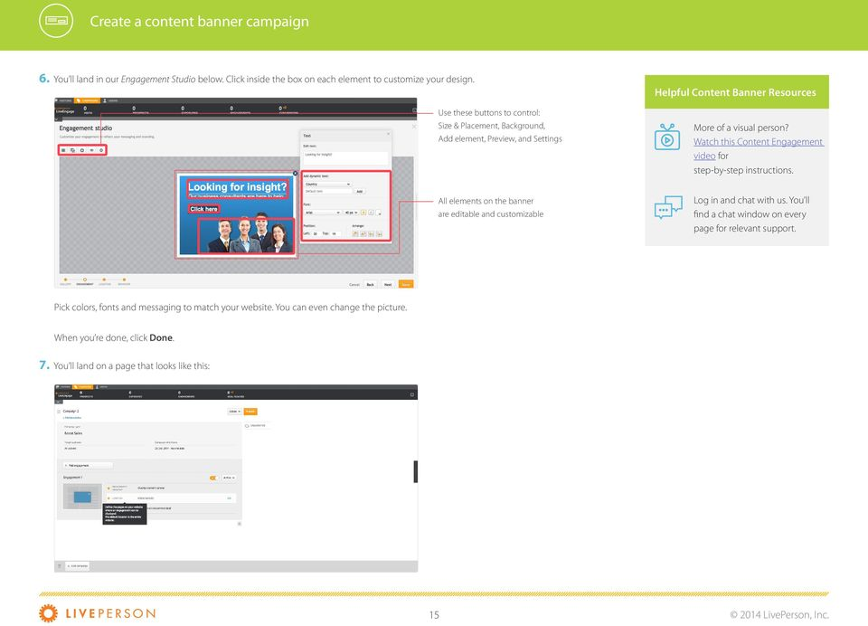 Watch this Content Engagement video for step-by-step instructions.