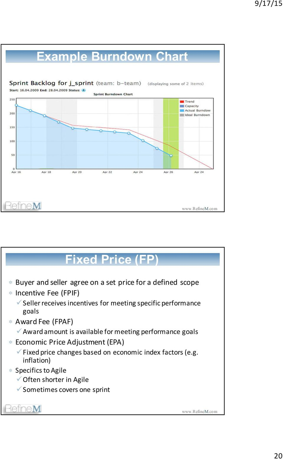 is available for meeting performance goals Economic Price Adjustment (EPA) ü Fixed price changes based on