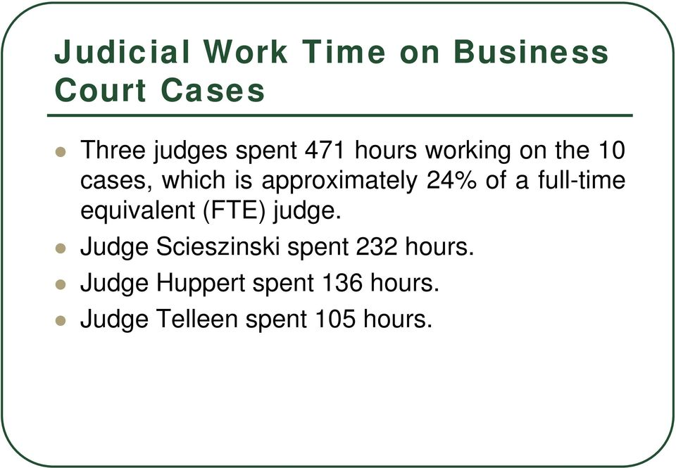a full-time equivalent (FTE) judge.