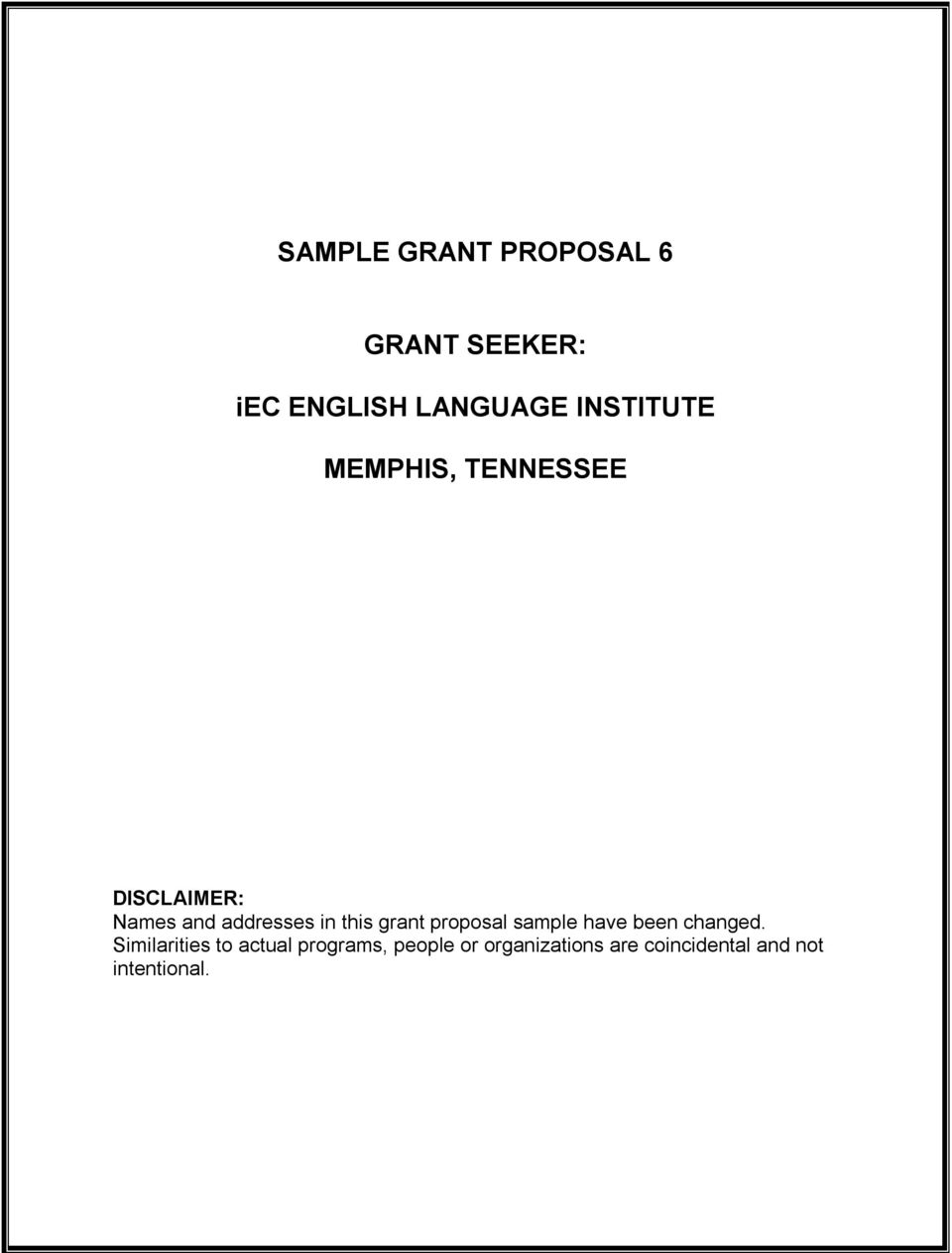 this grant proposal sample have been changed.
