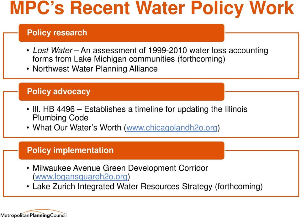 HB 4496 Establishes a timeline for updating the Illinois Plumbing Code What Our Water s Worth (www.chicagolandh2o.