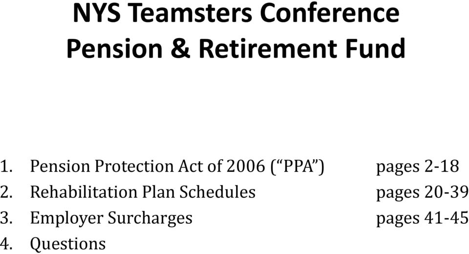 Pension Protection Act of 2006 ( PPA ) pages