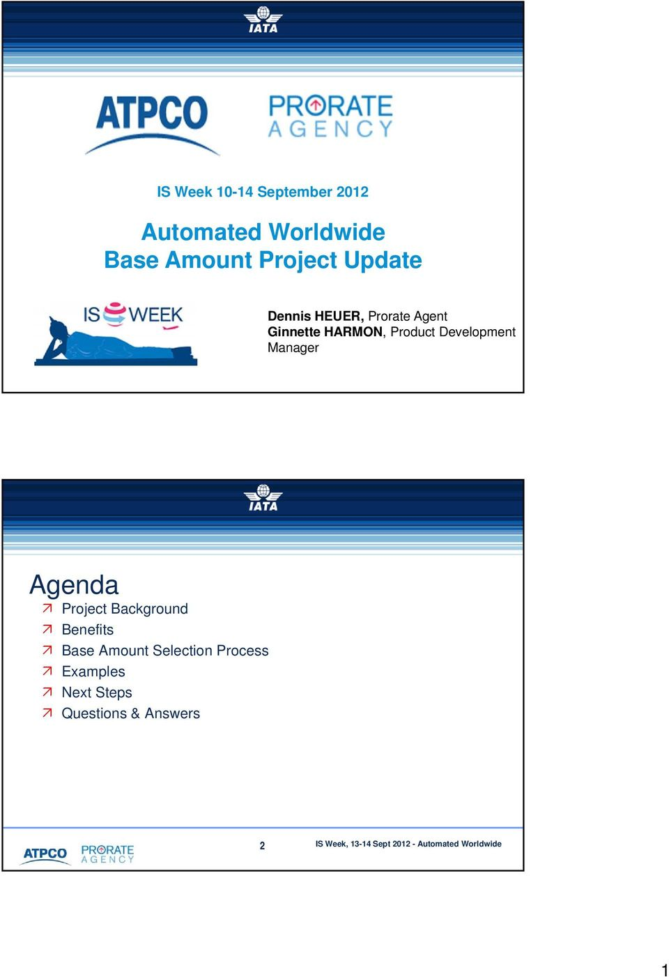 Development Manager 1 1 11 October 2010 Agenda Project Background