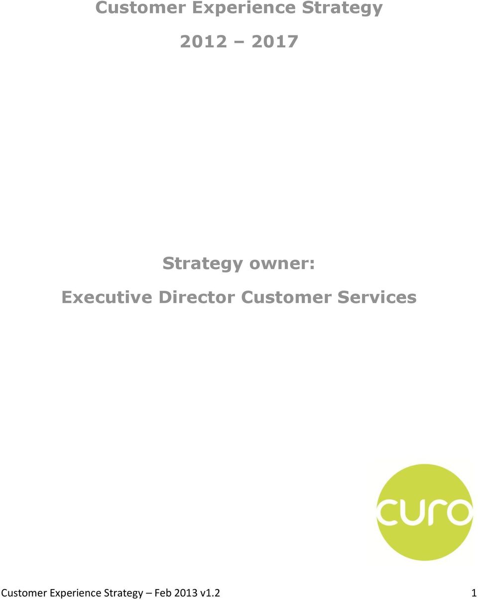 Director Customer Services