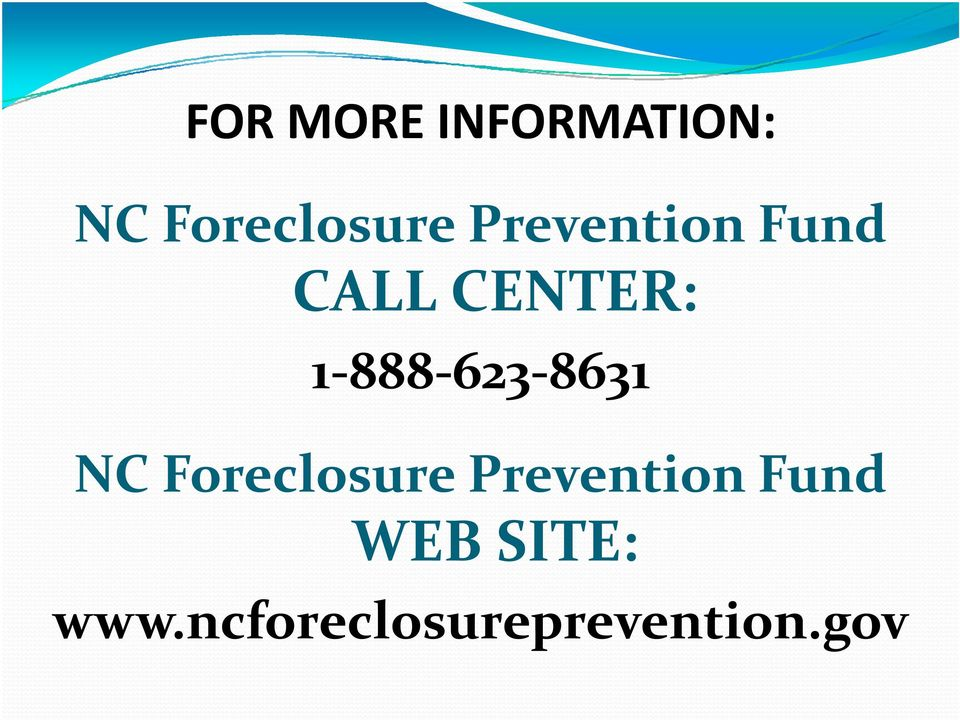 8631 NC Foreclosure Prevention Fund