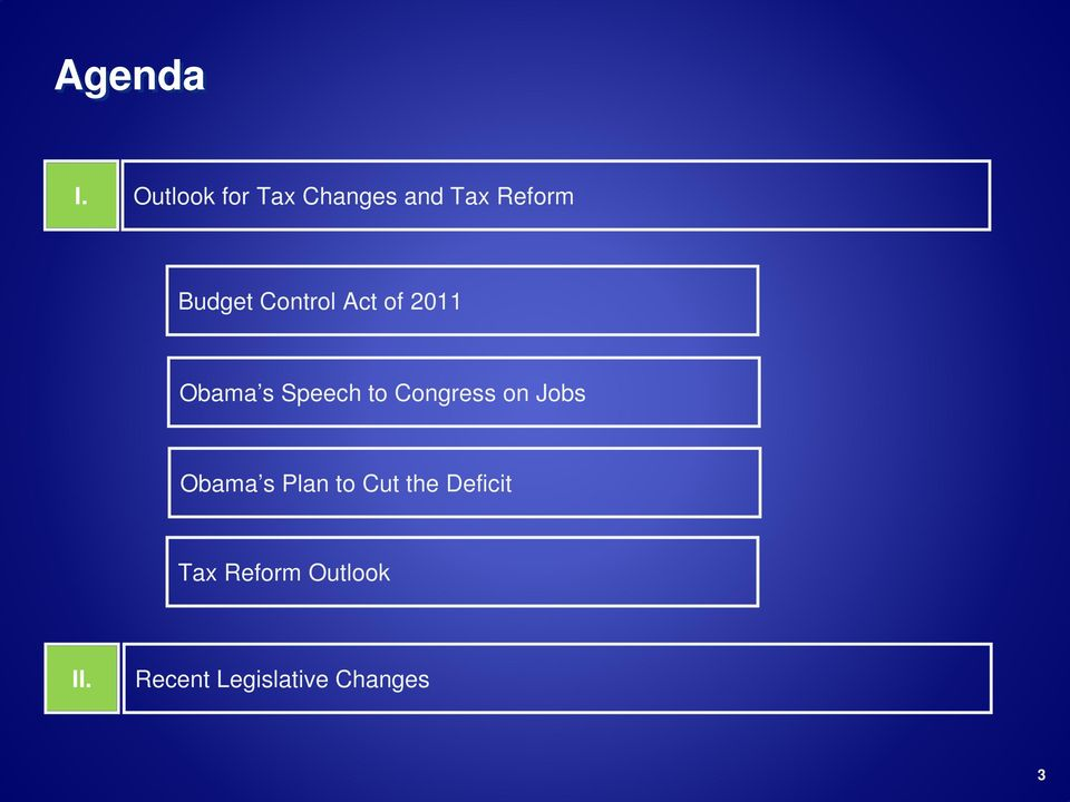 Control Act of 2011 Obama s Speech to Congress