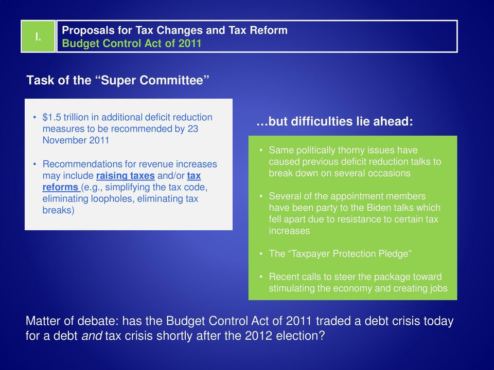taxes and/or tax reforms (e.g.
