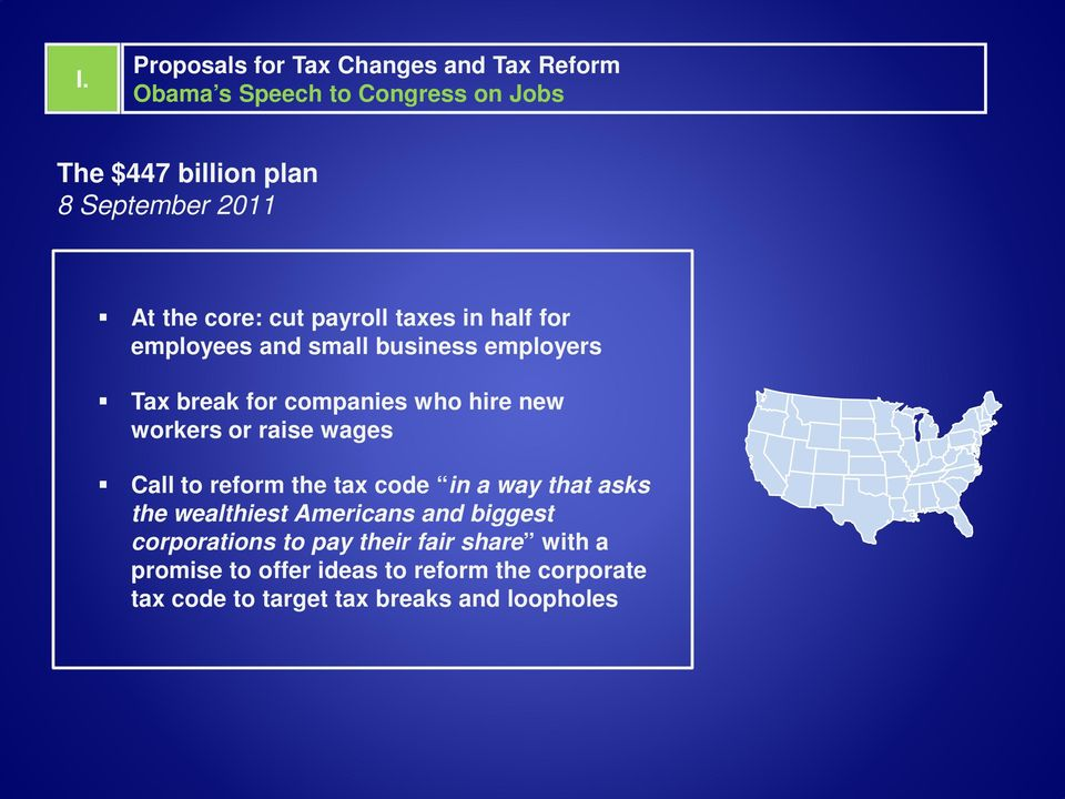 workers or raise wages Call to reform the tax code in a way that asks the wealthiest Americans and biggest corporations