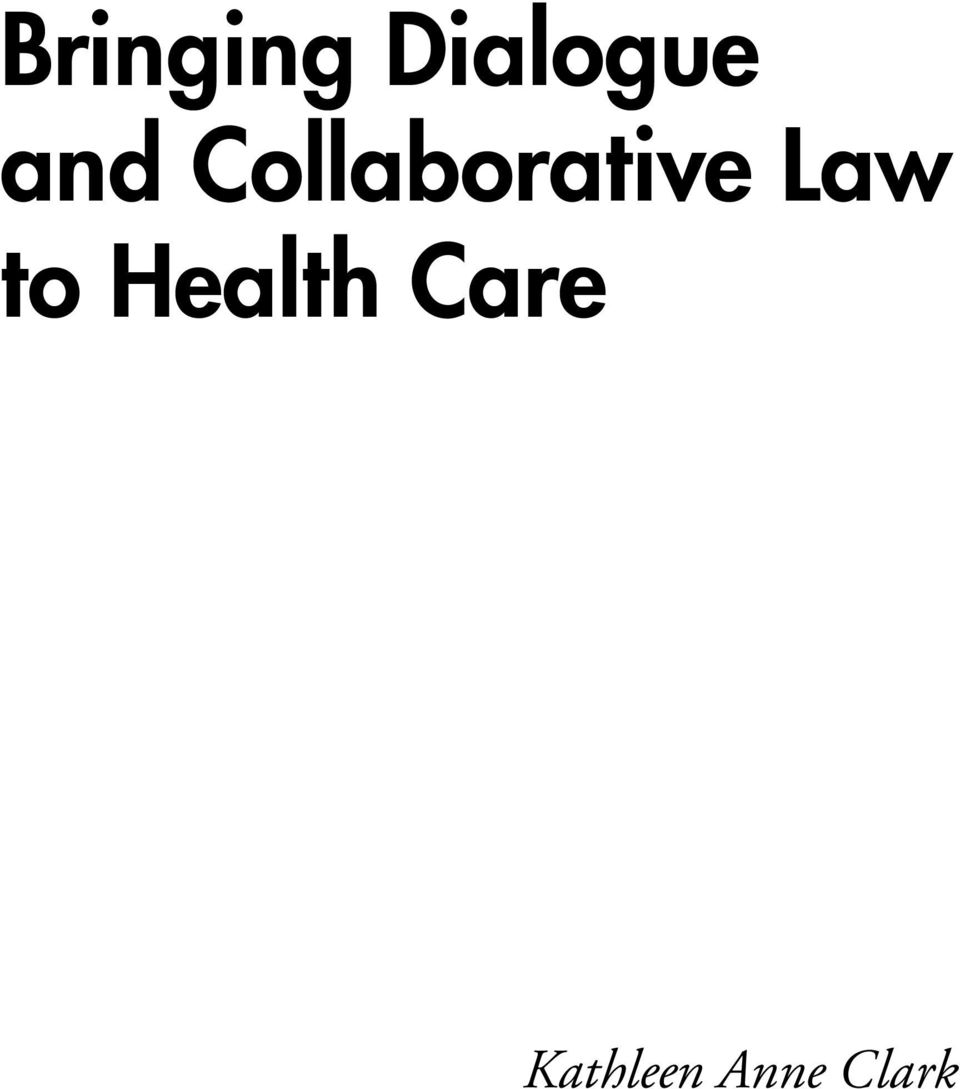 Law to Health Care